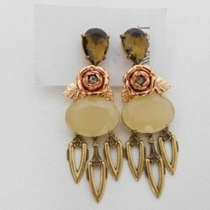 J Crew Womens Statement Rose Gold Earrings Dangly
